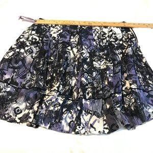 TAHARI Skirt Embroidery, Pleats
